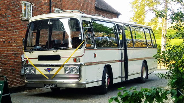 Reliance AEC Coach wedding car for hire in Oxted, Surrey