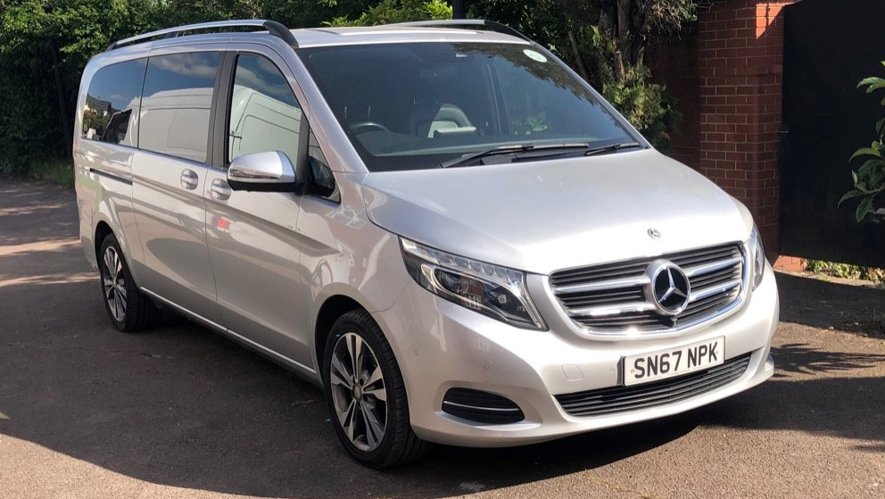 Mercedes V-Class wedding car for hire in East London
