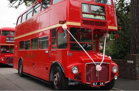 Bus & Coach wedding transport for hire in Gloucestershire