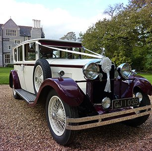 Vintage wedding cars for hire in Gloucestershire