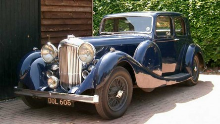 Lagonda LG45 wedding car for hire in Lewes, East Sussex