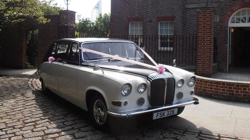 Daimler DS420 Limousine wedding car for hire in Portsmouth, Hampshire