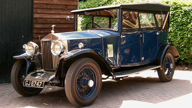 Rolls-Royce 20hp Convertible wedding car for hire in Lewes, East Sussex