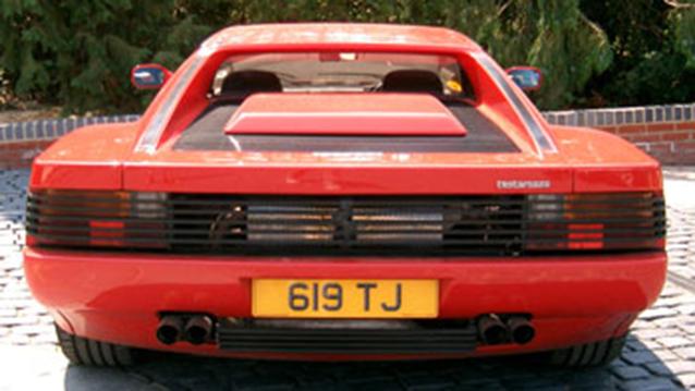 Ferrari Testarossa wedding car for hire in Cadnam, Hampshire