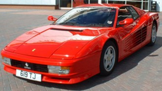 Ferrari Testarossa wedding car for hire in Cadnam, Hampshire