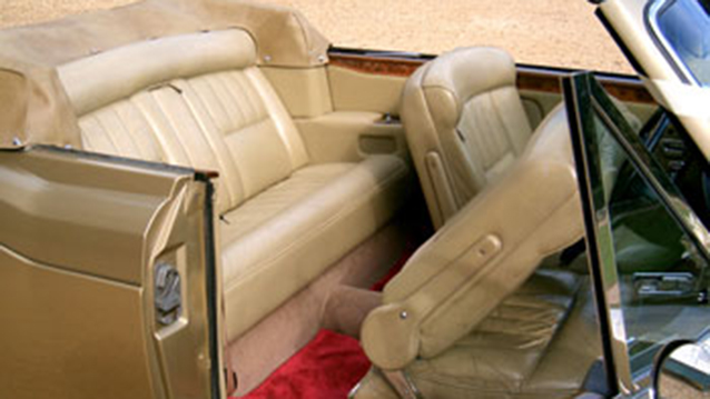 Rolls-Royce Corniche Convertible wedding car for hire in Cadnam, Hampshire