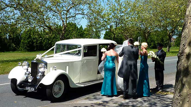 Rolls-Royce 20/25 Limousine wedding car for hire in Cadnam, Hampshire