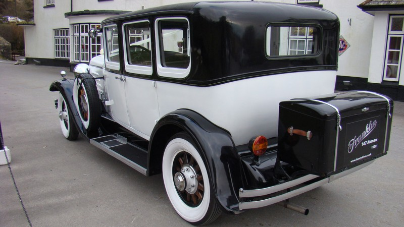 Franklin 147 Saloon Special wedding car for hire in Plymouth, Devon