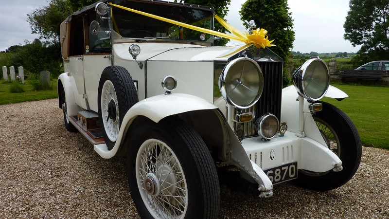 Rolls-Royce 20/25 Open Landaulette wedding car for hire in Cadnam, Hampshire