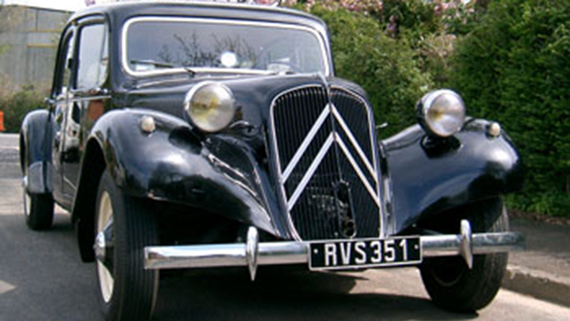 Citroen Traction Avant wedding car for hire in Portsmouth, Hampshire
