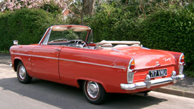 Ford Zephyr Convertible wedding car for hire in Portsmouth, Hampshire