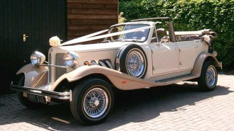 Beauford 4 Door Convertible wedding car for hire in Lewes, East Sussex