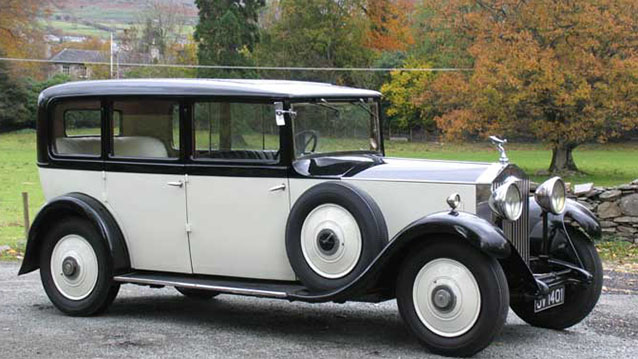 Rolls-Royce 20/25 Limousine wedding car for hire in Winchester, Hampshire