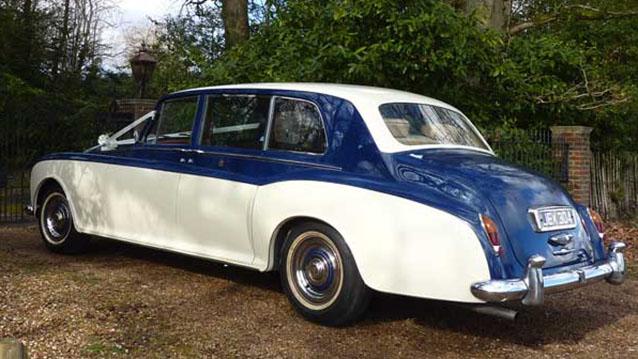 Rolls-Royce Phantom V Limousine wedding car for hire in Cadnam, Hampshire