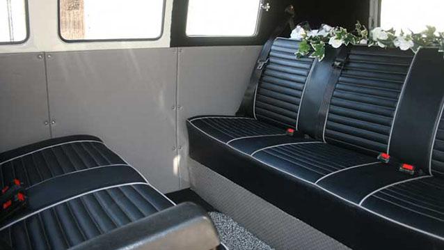 Volkswagen Camper Microbus wedding car for hire in Wareham, Dorset