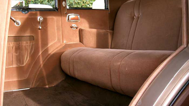 Oldsmobile V8 Sedan wedding car for hire in Exeter, Devon
