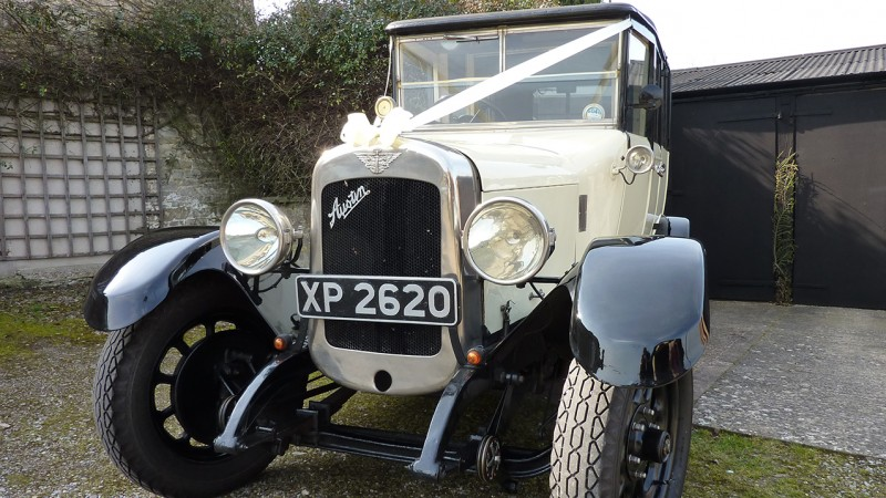 Austin 20 Limousine wedding car for hire in Taunton, Somerset