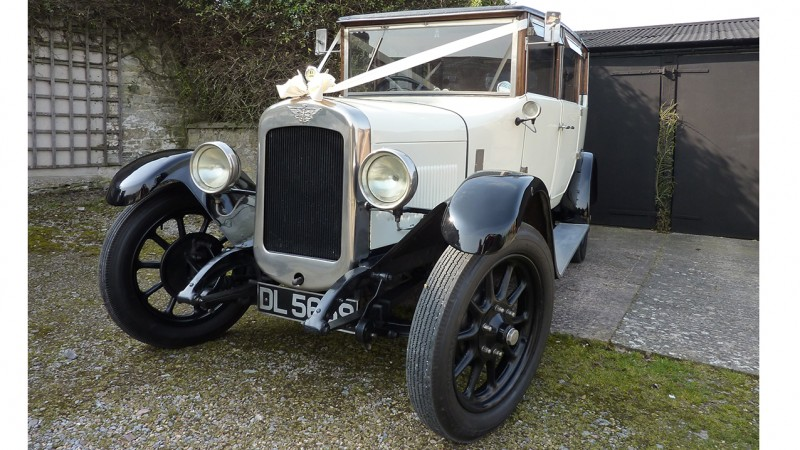 Austin 16/6 Gordon Landaulette wedding car for hire in Taunton, Somerset