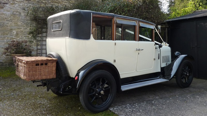 Vintage Austin Landaulette Wedding Car Hire Somerset