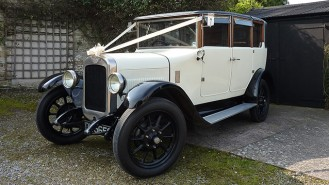 Austin 16/6 Gordon Landaulette wedding car for hire in Taunton, Somerset