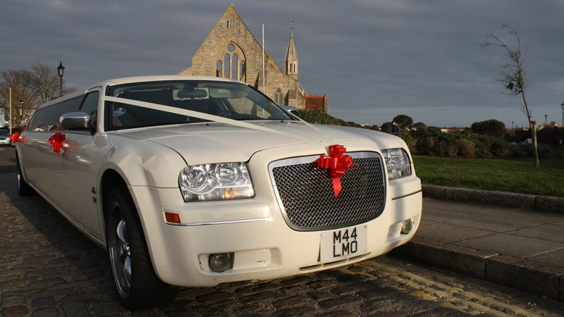 Chrysler 300c wedding car for hire in Portsmouth, Hampshire