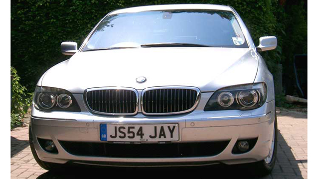 BMW '7' series LWB wedding car for hire in Lewes, East Sussex