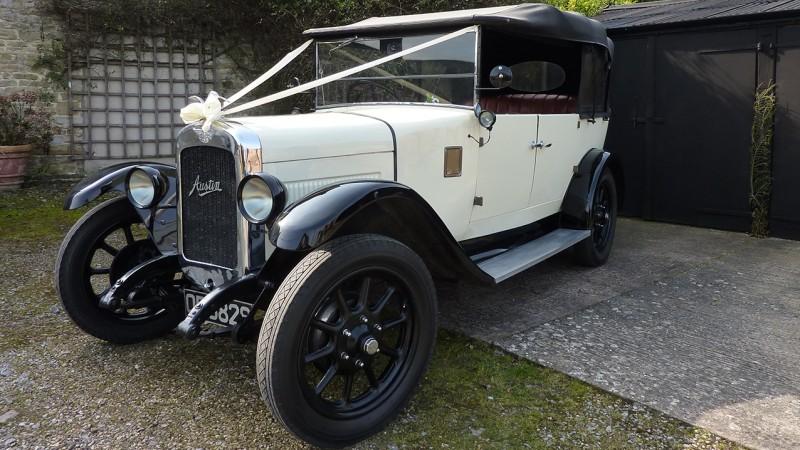 Austin Clifton Open Tourer wedding car for hire in Taunton, Somerset