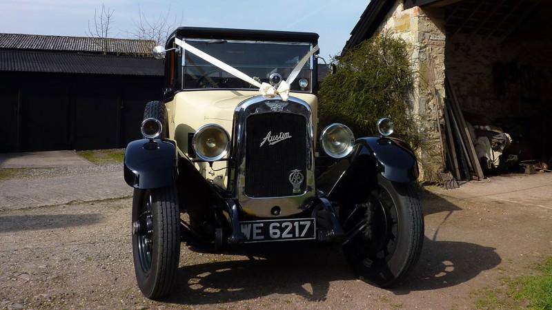 Austin 20 Limousine wedding car for hire in Taunton, Somerset