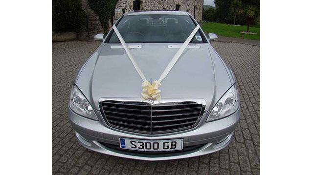 Mercedes 'S' Class LWB wedding car for hire in Plymouth, Devon