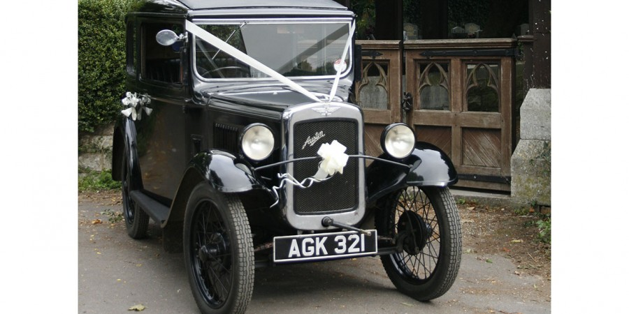 Austin Seven wedding car for hire in Bournemouth, Dorset