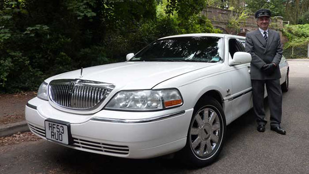 Lincoln USA 30ft 'Krystal' Limousine wedding car for hire in Bournemouth, Dorset