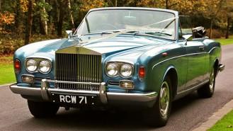 Rolls-Royce Corniche Convertible wedding car for hire in Farnham, Surrey
