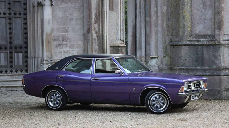 Ford Cortina MK3 2000E Executive wedding car for hire in Verwood, Dorset