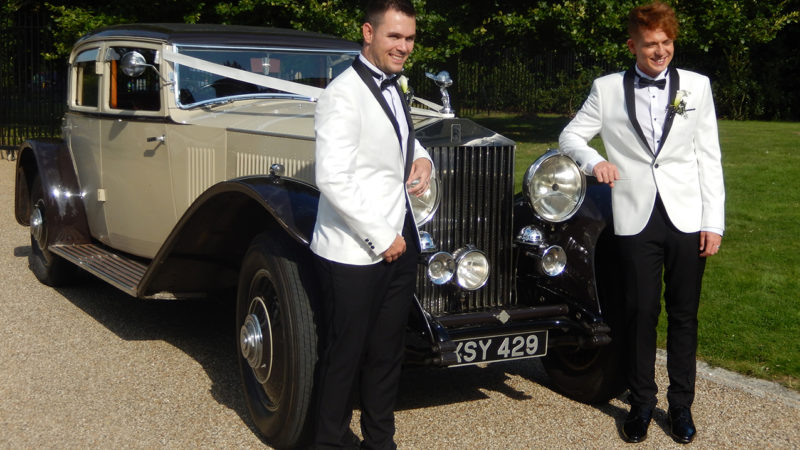 Rolls-Royce Phantom II Continental Sports wedding car for hire in East Grinstead, West Sussex