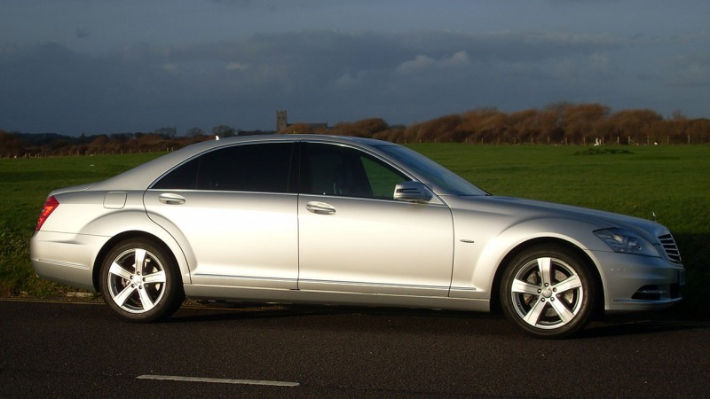 Mercedes 'S' Class 350 CDi LWB wedding car for hire in Bournemouth, Dorset