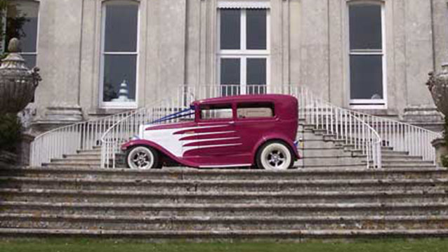 Ford Model 'A' Sedan Hot Rod wedding car for hire in Bournemouth, Dorset