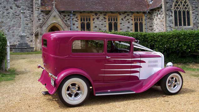 Ford Hot Rod Wedding Car Hire In Bournemouth Dorset
