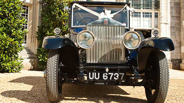 Rolls-Royce 20hp Landaulette wedding car for hire in Poole, Dorset