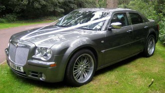 Chrysler 300c wedding car for hire in Romsey, Hampshire