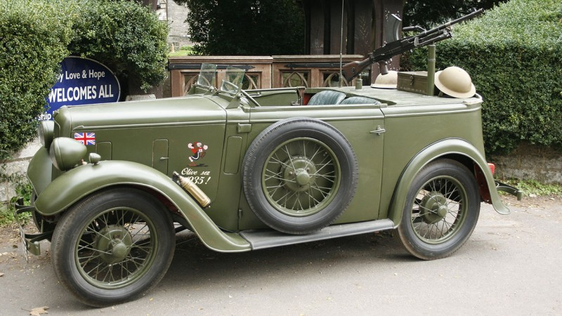 Austin 7 Military Reconnaisance Tourer wedding car for hire in Bournemouth, Dorset
