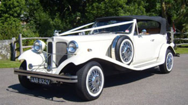 Beauford Touring Convertible wedding car for hire in Uckfield, East Sussex