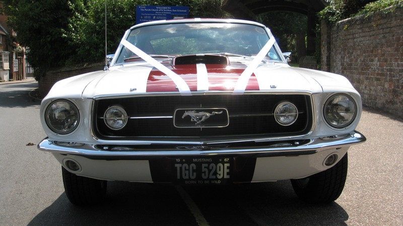 Ford Mustang Fastback wedding car for hire in Croydon, Surrey