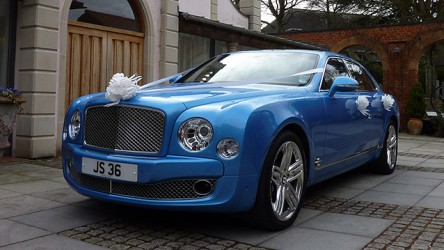 Bentley Mulsanne LWB wedding car for hire in Verwood, Dorset