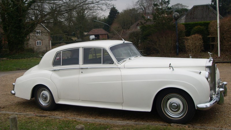 Rolls-Royce Silver Cloud I wedding car for hire in Chichester, West Sussex