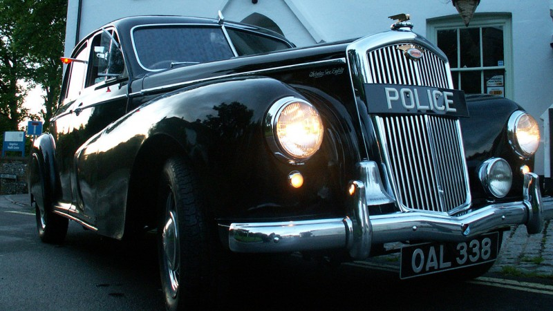 Wolseley 6/80 Police Car wedding car for hire in Andover, Hampshire