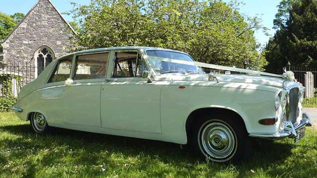 Daimler DS420 Limousine wedding car for hire in Fareham, Hampshire