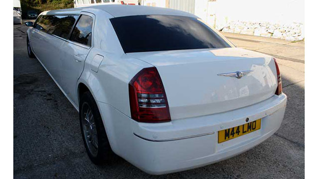 Chrysler 300c Stretch Limousine wedding car for hire in Portsmouth, Hampshire