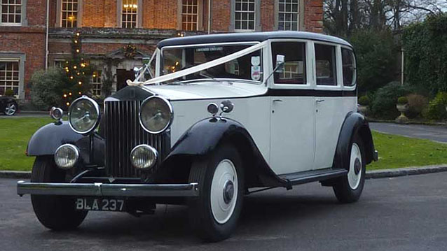 Rolls-Royce 20/25 Limousine wedding car for hire in Portsmouth, Hampshire