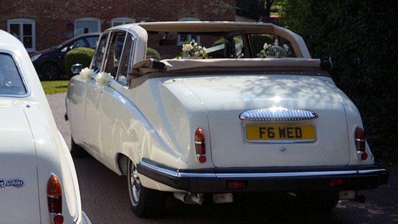 Daimler DS420 State Landaulette wedding car for hire in Southampton, Hampshire