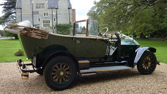 La France Convertible wedding car for hire in Bridgwater, Somerset